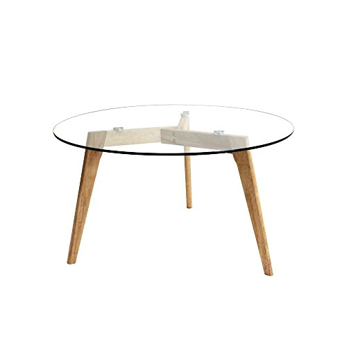 Table ronde en verre for Decoration table ronde