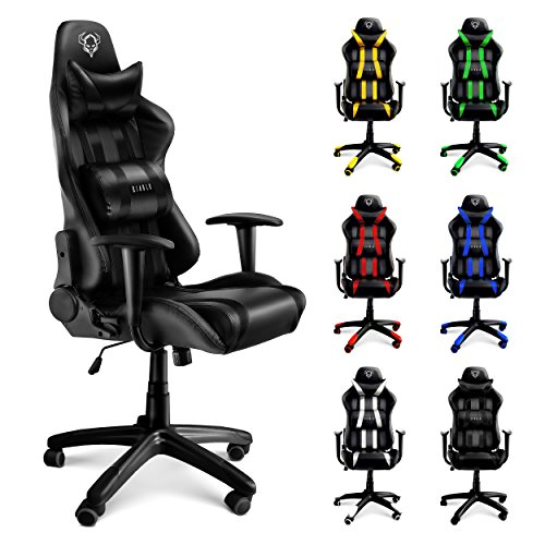 diablo x one racing chaise de bureau avec accoudoirs. Black Bedroom Furniture Sets. Home Design Ideas