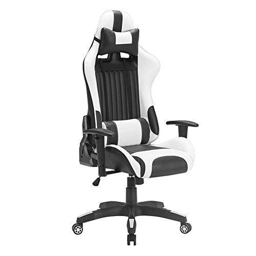 iwmh racing chaise de bureau si ge gaming de luxe fauteuil gamer pro assise baquet sport en. Black Bedroom Furniture Sets. Home Design Ideas