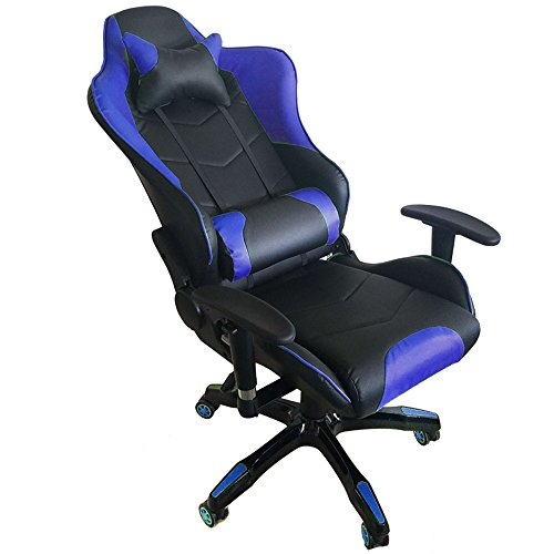mctech chaise de bureau gamer fauteuil si ge racing gaming chaise similicuir pu avec accoudoirs. Black Bedroom Furniture Sets. Home Design Ideas