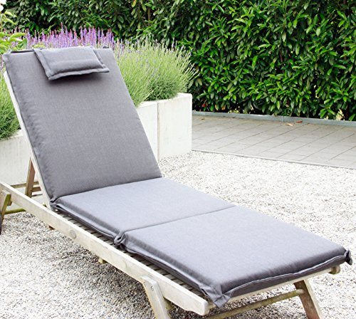 xxl coussin pour bain de soleil chaise longue de jardin. Black Bedroom Furniture Sets. Home Design Ideas