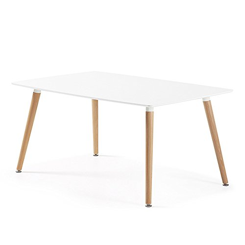 designetsamaison table manger rectangulaire scandinave blanche 120cm brevik. Black Bedroom Furniture Sets. Home Design Ideas