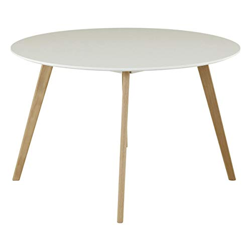 Id Click Table Ronde Laque Blanc 120 Cm Scandie