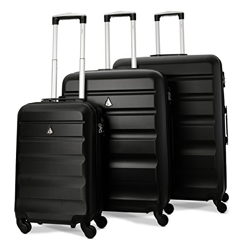 aerolite valise rigide l gere 4 roulettes serrure tsa. Black Bedroom Furniture Sets. Home Design Ideas