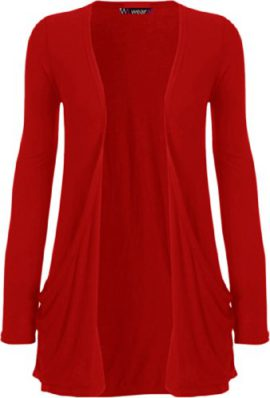 WearAll-Cardigan--manches-longues-Rouge-40-42-0