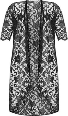 WearAll-Grande-Taille-Womens-Floral-Lace-manches-courtes-Ouvrir-longues-pour-femmes-Cardigan-Haut-Cardigans-Femmes-Grande-Tailles-44--56-0