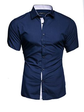 Kayhan-Homme-Chemise-Slim-Fit-Repassage-Facile-Coton-Manches-Courtes-Coupe-Modell-Florida-Hawaii-S-6XL-0