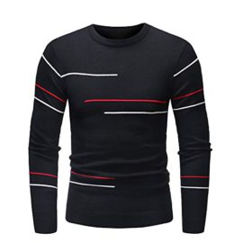 URIBAKY-Pullover-Hiver-pour-Homme-Pull-Slim-Jumper-Tricot-Blouson-0