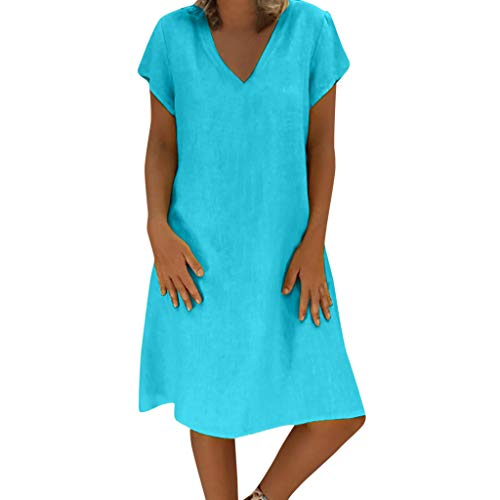 Holywin Casual Grande Taille Robe D Ete Pour Femme T Shirt Coton