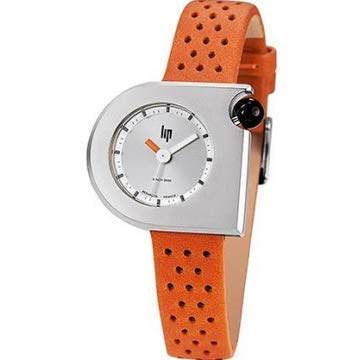 Orange Montre Lip Vintage Mach Cuir Femme 2000 671114 PukwZiOXT