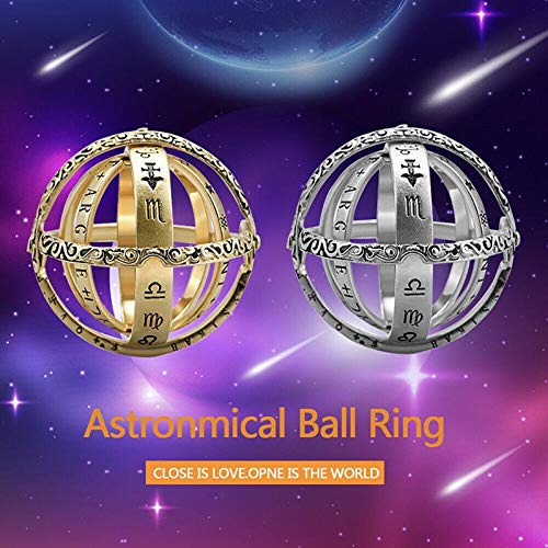 Alliage Astronomical Sphere Ball Ring Cosmic Finger Ring Couple Lover Gift