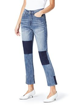 find-High-Rise-Patch-Detail-Jeans-Femme-0
