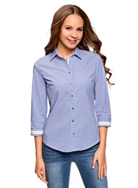 oodji-Ultra-Femme-Chemise--Finition-Contrastante-et-Manches-34-0