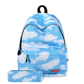 LITTHING-Sac--Dos-Scolare-Trousse--Crayons-Cartable-Backpack-Unisexe-Galaxie-Adolescent-Collge-Loisir-Voyage-Pique-Nique-0
