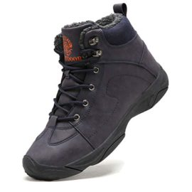 Axcone-Homme-Femme-Chaussures-Trekking-Randonne-Bottes-de-Neige-Hiver-Impermable-Outdoor-Boots-Fourrure-Cuir-Impermable-Sneakers-0