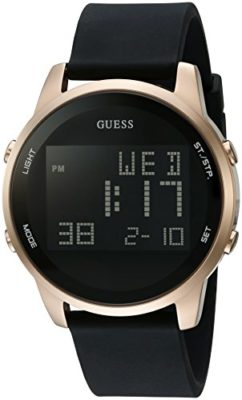 GUESS-Mens-Quartz-Metal-and-Silicone-Casual-Watch-ColorBlack-Model-U0787G1-0
