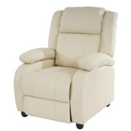 Mendler-Fauteuil-de-tlvision-Fauteuil-Relax-Lincoln-Relaxation-Similicuir-crme-0