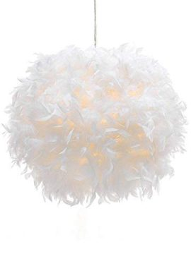 WanEway-White-Feather-Ceiling-Pendant-Light-Shade-0