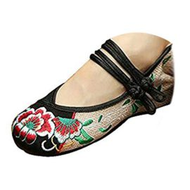 Kangzy-Chaussures-Florales-Chinoises-Brodes-Vintage-Femme-SHUANGKOU-Ballerines-Mary-Jane-Ballerine-Flat-Ballet-Cotton-Loafer-Noir-0