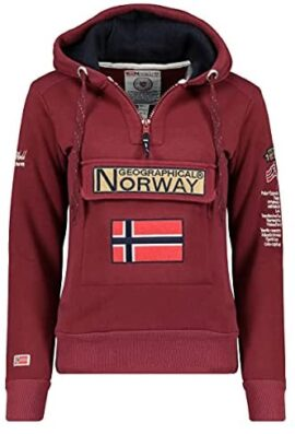 Geographical Norway GYMCLASS Lady - Sweat Femme Capuche Poches Kangourou - Sweatshirt Femmes Manche Pull Casual Manches Longues Chaud - Hoodie Veste Tops Sport