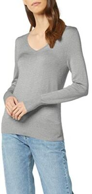 Marque Amazon - find. Pull Col V Femme