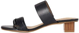 Marque Amazon - find. Inset Heel Strippy Mule, Bout Ouvert femme