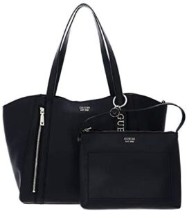 Guess Naya Trap Tote, Bags Cross Body Femme, Noir, Taille Unique